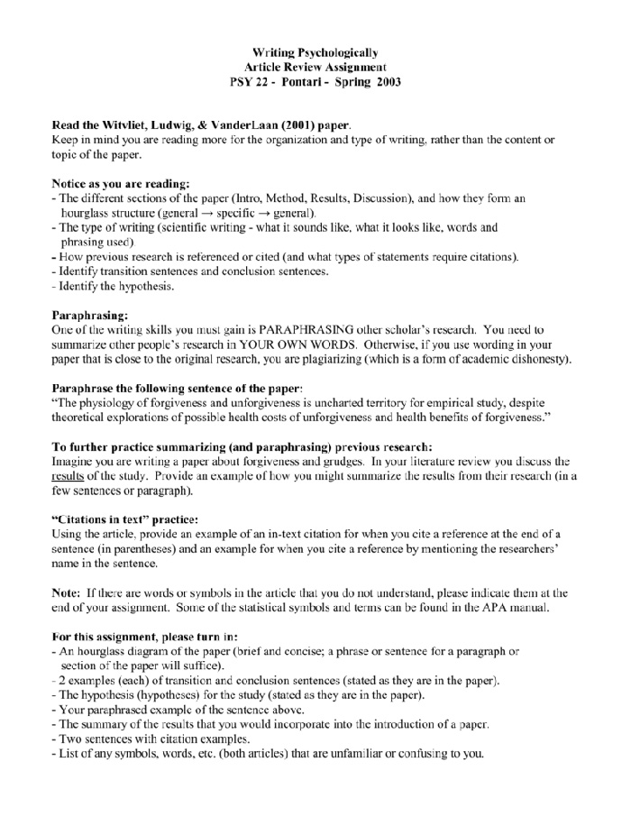 how to write an article review stepstep instruction